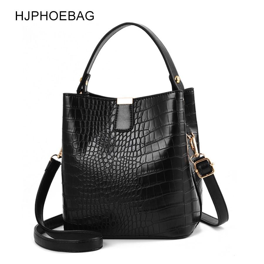 HJPHOEBAG Fashion Crocodile Crossbody Bag For Women Shoulder Bag Designer Women Bags Luxury PU Leather Bag Bucket Handbag YC254