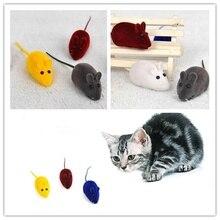 3pcs Cat Pet Supplies Simulation Rubber Flocking Vocal Mouse Toy