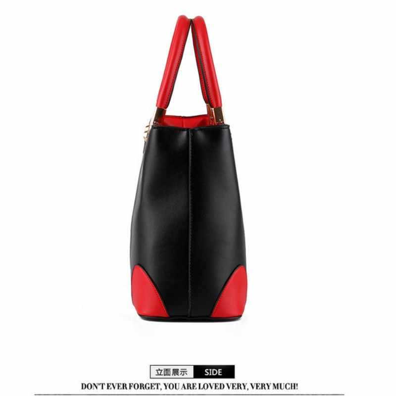 100% Echt leer Vrouwen handtassen 2019 Nieuwe dame in zwart en wit dames mode handtassen Schouder Messenger Handtas