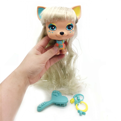 1 шт. 11 см милый старый питомец VIP Собака ПВХ модель подарок игрушка для детских кукол