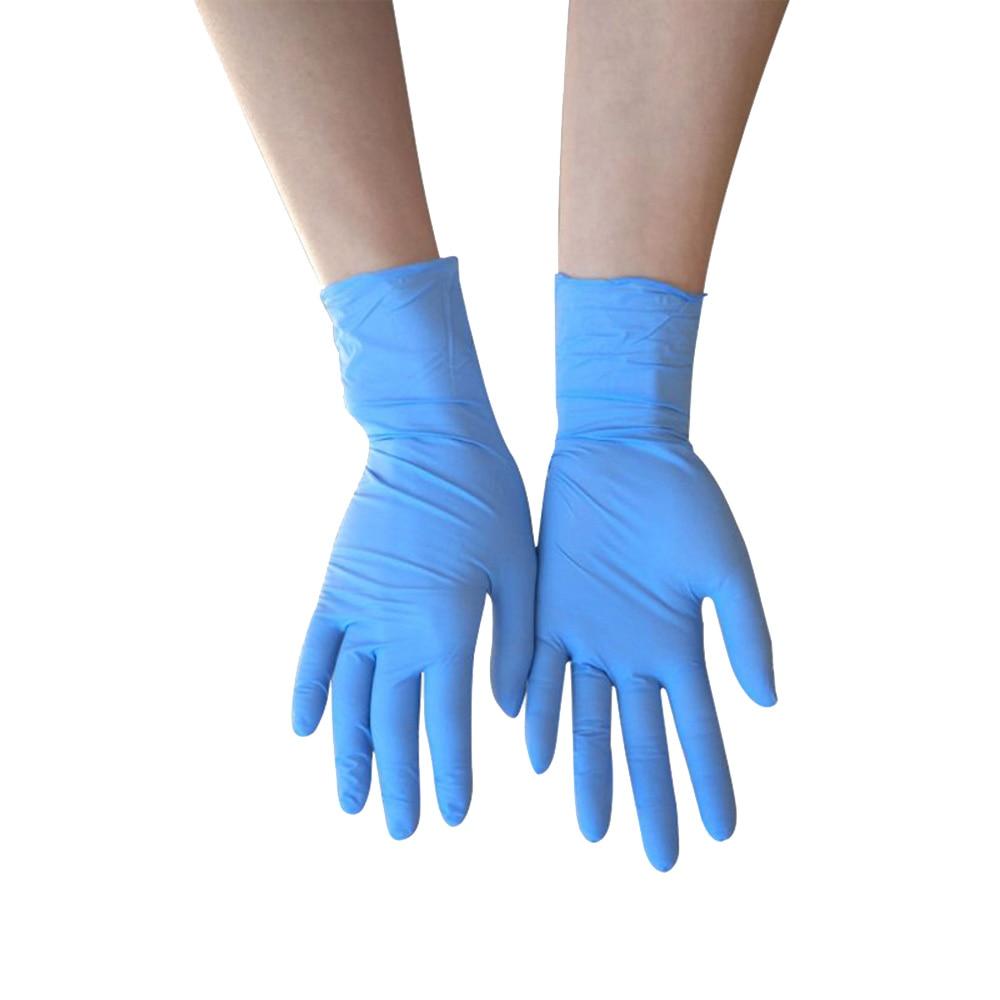 100PCS Nitrile Latex Disposable Household Latex Gloves Disposable Safety Gloves Food Gloves Left And Right Rekawiczki Nitrylowe