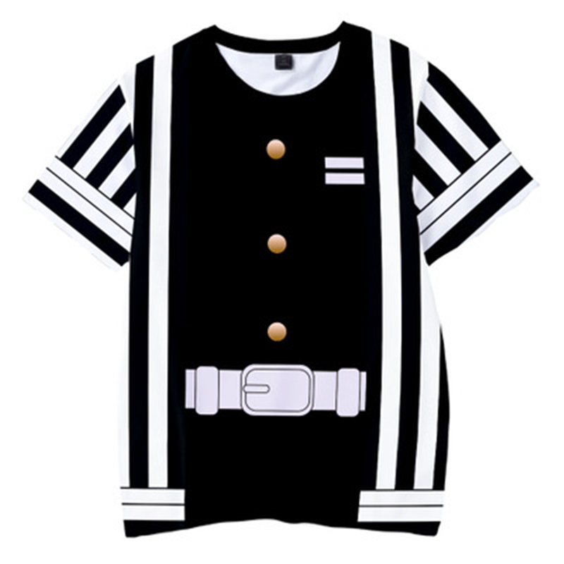 Hd570e4bc12a34414ab19406c42bc254bP Kids Boys Devils killer T-shirts 3d Print Cosplay Japanese Ghost blade Children Summer Short Sleeve Tshirts Demon Slayer Clothes