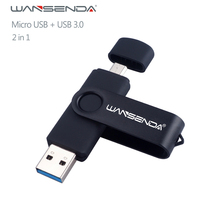 Новый USB 3.0 wansenda OTG USB флеш-накопитель для смартфонов/планшетов/pc 8 ГБ 16 ГБ 32 ГБ 64 ГБ 128 ГБ флешки высокая скорость Флеш накопитель пакет