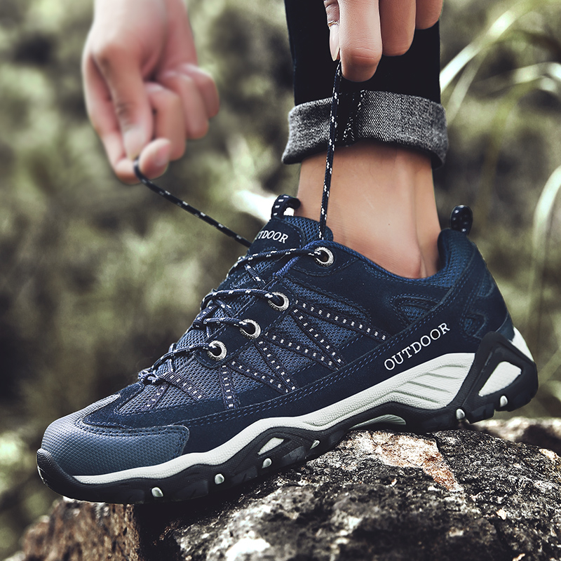 Non-Slip Hiking Shoes For Men Women Breathable Tactical Climbing Trekking Shoes Unisex Outdoor Sneakers Walking Shoes Plus Size