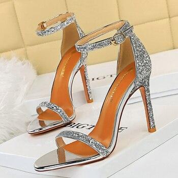 10cm High Heels Bling Glitter Stiletto Pumps 3