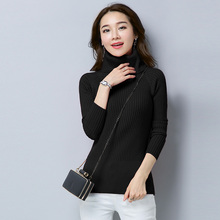 Winter sweater women turtleneck new super elastic slim tight pullover long sleeve knitted Top
