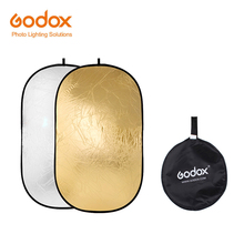 Godox 2 で 1 100*150 センチメートルポータブル折りたたみ照明オーバル用写真 Diffuers ゴールド Silve の