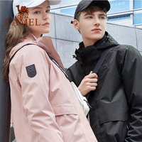 CAMEL Men Women Jacket 3 in 1 Outdoor Hiking Jacket Thermal Fleece Inner Waterproof Windbreaker Warm Hiking Trekking Coat