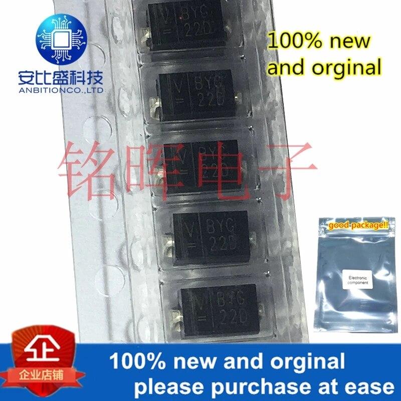 50pcs 100% New And Orginal BYG22D SMA DO214AC 2A 200V In Stock