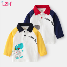 Kids Striped Pullover Bottoming-Shirt Stitching Long-Sleeves Baby-Boys Cartoons New Cute