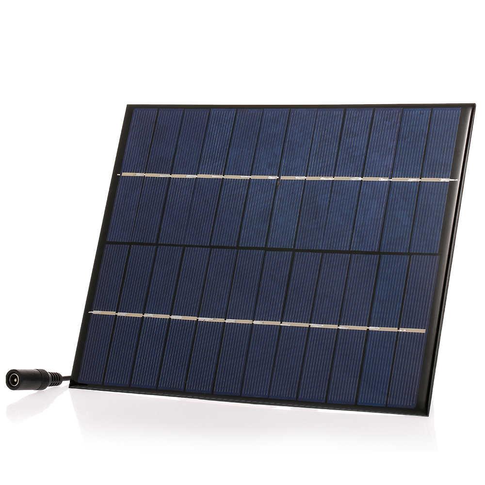 DIY شاحن بالطاقة الشمسية لوحة مع 5521 DC الناتج المدمجة ألواح شمسية متعدد الكريستالات/ البلورات ل مصباح حديقة الشمسية مضخة الهواء الطلق