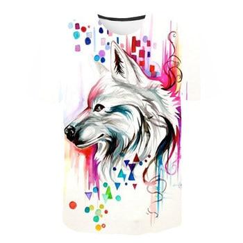 2019 Summer New Men  Wolf series 3D Print T-shirt S-6XL Plus Size  O-neck  Short Sleeve T-shirt Fashion Men Casual Tops tee summer 2020 sikh silk men s t shirt silk t shirt o neck short sleeve men s t shirt t shirt sikh silk men s shirt t shirt