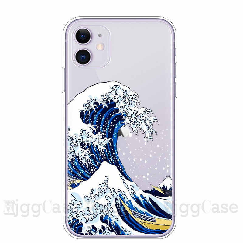 La grande vague de Kanagawa Coque de t l phone pour iphone 11 Pro Max 6 q50
