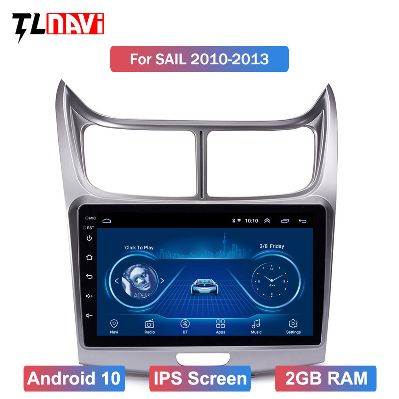 9 Inch Android 10 Car Dvd Gps Player for Chevrolet1 SAil 2010-2013 built-in Radio Video Navigation Bt Wifi