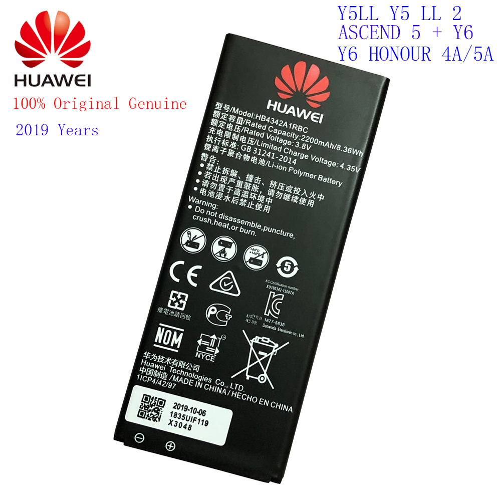Huawei 100%Original Battery Honor HB4342A1RBC 2200mah Ce for 4a/Honor/5a/.. title=