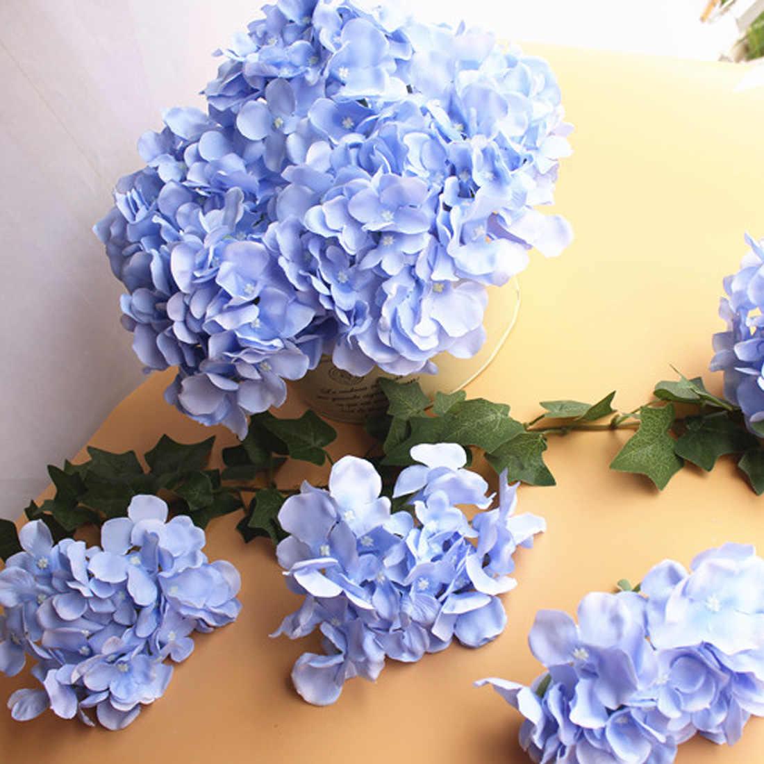 人工アジサイ 1 個シルクフラワーフェイクフラワーウェディングデコレーション春 vivid ビッグ結婚式ホームデコレーション