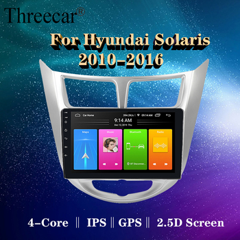 For Hyundai Solaris accent Verna i25 2010-2016 car dvd IPS Android with gps navigation radio video car stereo multimedia player image