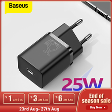 Baseus 25W USB C Charge PD Fast Charging Portable Phone Charger For Samsung S20 S21 Super Si USB C Charger Type C Fast Charger