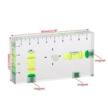 Высокая точность Прозрачный два направления Магнитный уровень пузырьковый мини-уровень духов M4YD