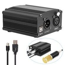 Bm 800 콘덴서 마이크 용 USB 48V 팬텀 전원 bm800 가라오케 스튜디오 마이크 Xlr 케이블 bm 800 팬텀 파워 사운드 카드
