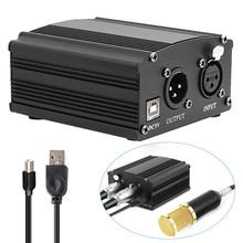 USB 48V alimentation fantôme pour bm 800 Microphone à condensateur bm800 karaoké Studio Microphone Xlr câble bm 800 alimentation fantôme carte son