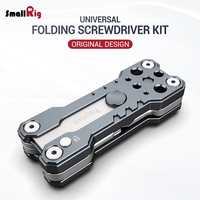 SmallRig Folding Screwdriver Kit Wrench Set Portable Hand Tool Set 4 Allen Wrenches 2.5, 3, 4, 3/16, 1 flat screwdriver 2373