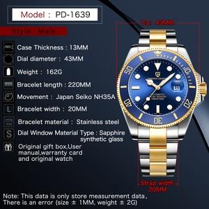 Image 5 - PAGANI DESIGN Mens Watches Luxury Automatic  Mechanical Watch Men Stainless Steel Waterproof Wrist Watch Mens Relogio Masculino