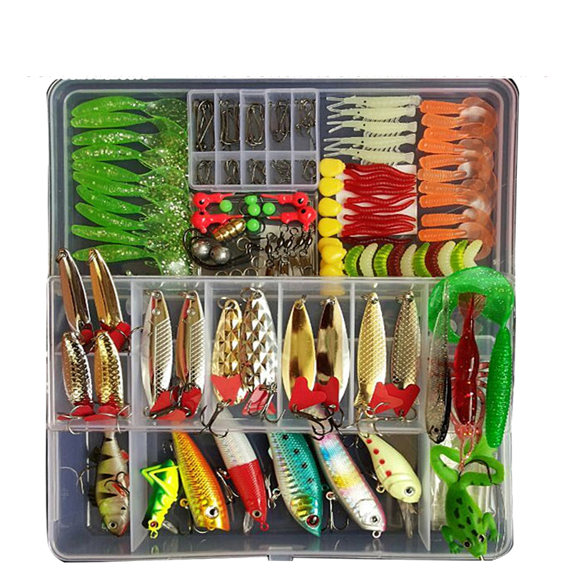 Full Kit Fishing Lures Set Mixed Hard Plastic Wobblers Metal Jig Spoons Soft Lure Silicone Bait Fishing Tackle Accessories Pesca|Fishing Lures| |  - title=