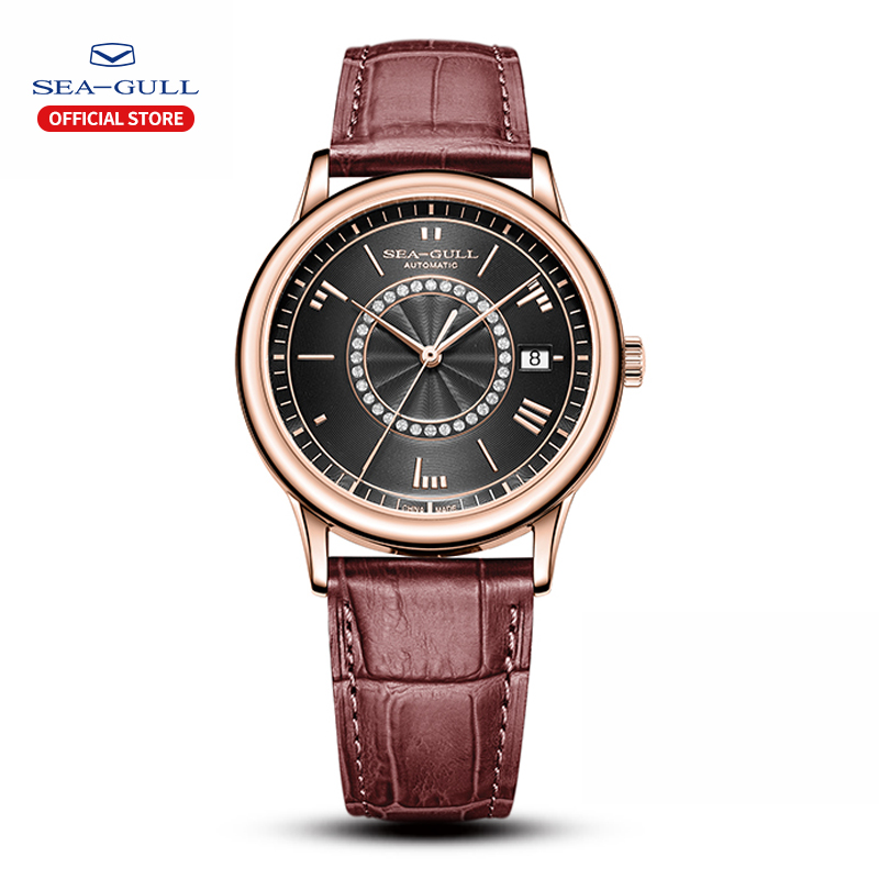 Seagull Watch Male Waterproof Steel Belt Mechanical Watch Business Casual Calendar Automatic Mechanical Watch 819.37.6038
