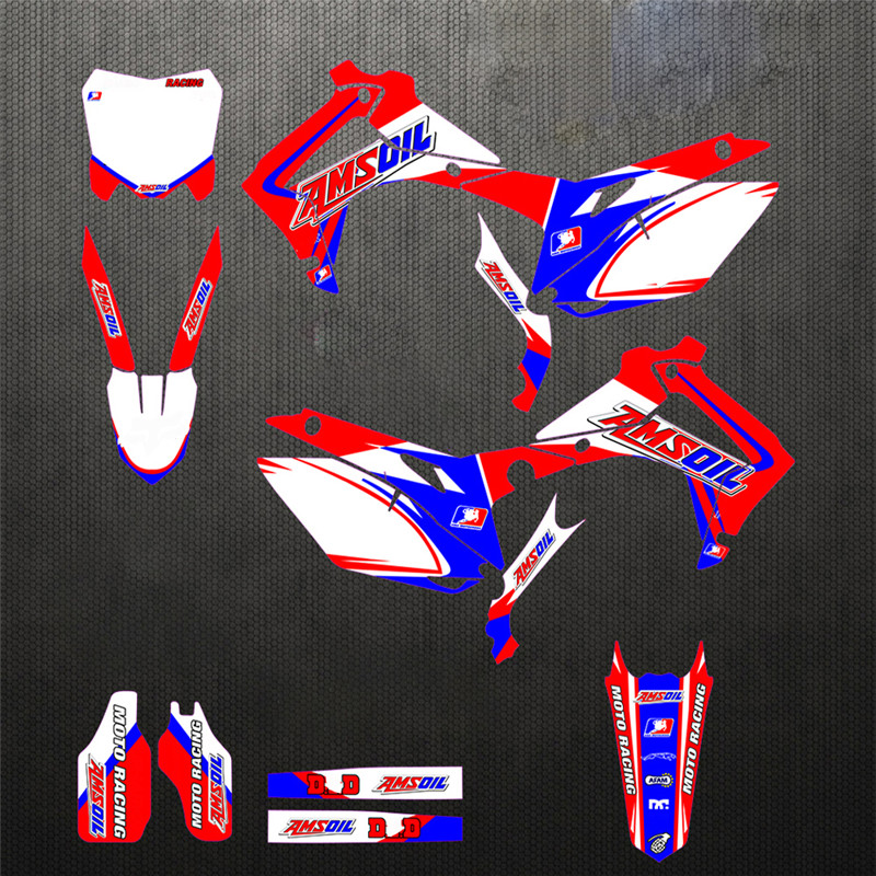 CRF250R 2014 - 2017 CRF Full Team Fairing Graphics Stickers Decal Customized For Honda CRF450R 2013 - 2016 Personlized Deco Kit