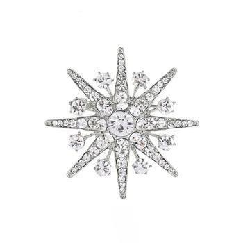 JUJIE Fashion Snowflower Cristal Brochase Voor Vrouwen Crystal Star Brooches For Women Brooch Pins Jewelry wholesale