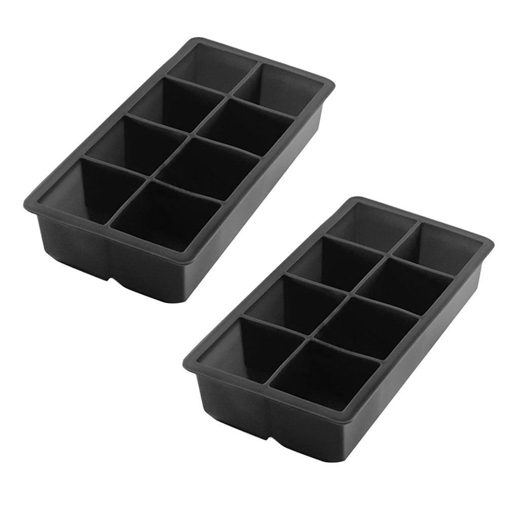 2Pcs Ice Cube Trays 8 Grids Silikon Platz Ice Cube Mold Pudding, Der Mold Jelly Maker Eisform für bars Home Küche