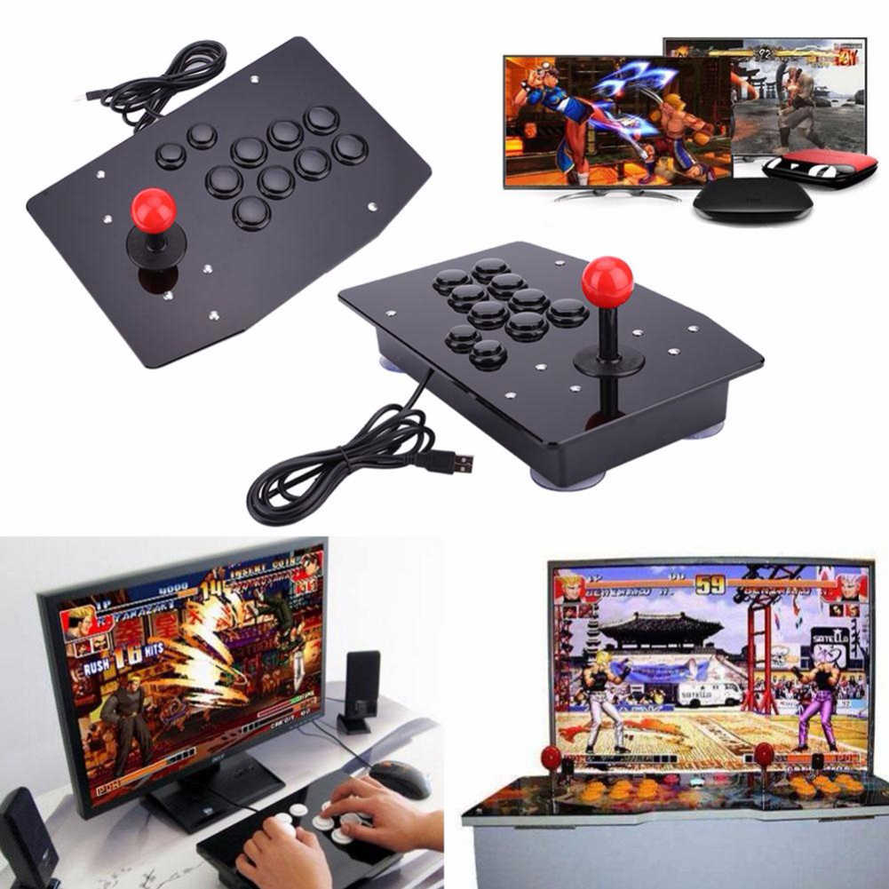 Gasky Arcade Joystick 10 Tombol PC Controller Game Komputer Arcade Tongkat Joystick Konsol Gamepad King Of Fighters