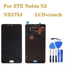 "5.5 ""AMOLED จอแสดงผลสำหรับ ZTE Nubia N2 NX575J LCD + หน้าจอสัมผัส Digitizer ASSEMBLY สำหรับ ZTE Nubia N 2 จอแสดงผลอะไหล่ซ่อม"
