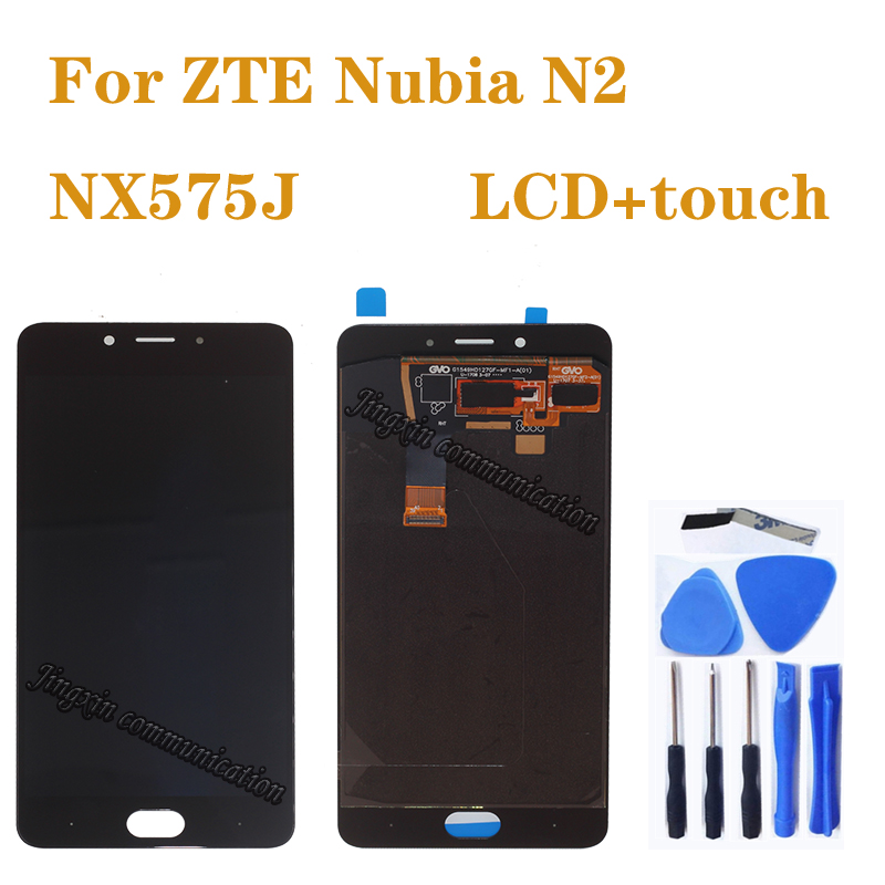 """5.5"""" AMOLED display for ZTE Nubia N2 NX575J LCD + touch screen digitizer assembly for ZTE Nubia N 2 display repair parts(China)"""