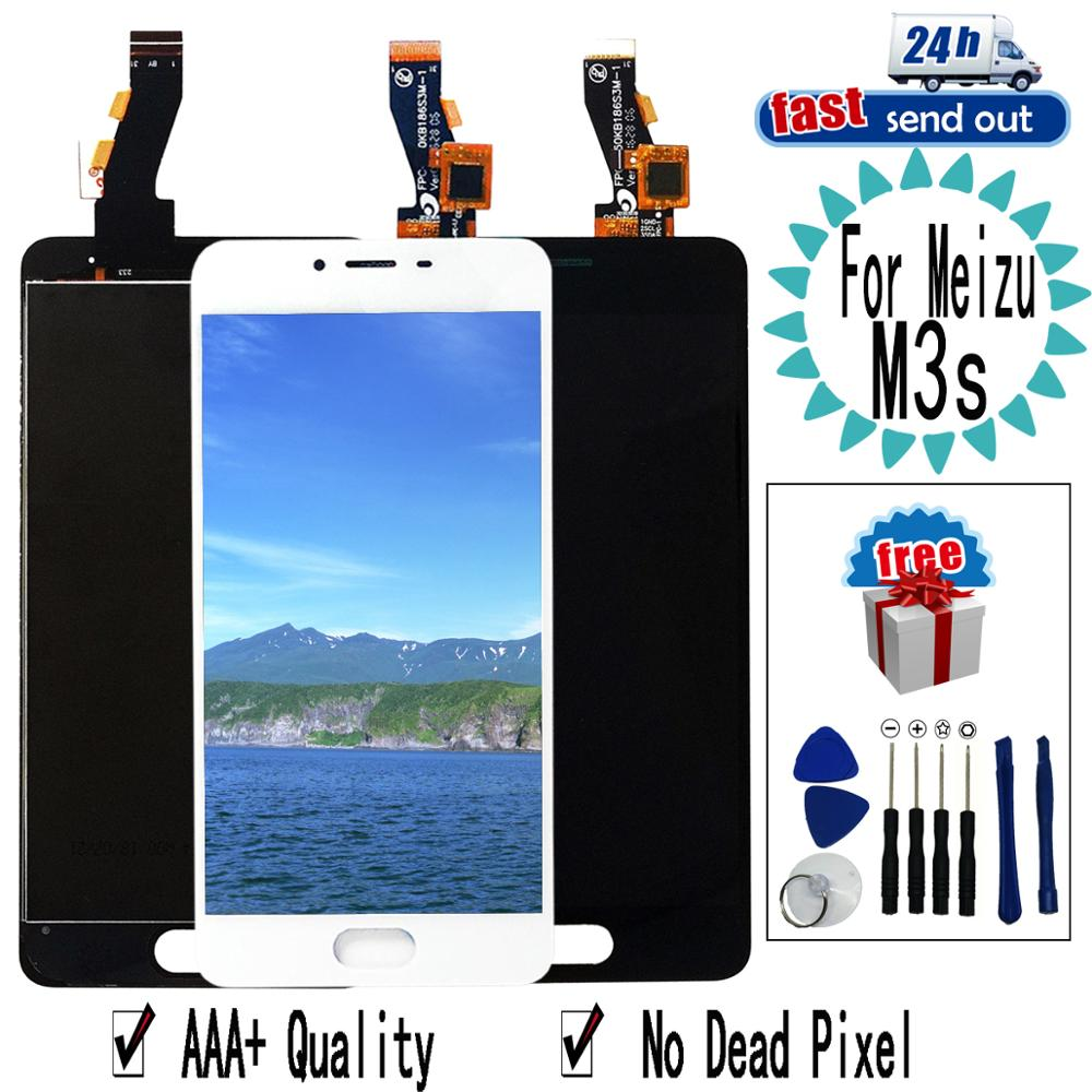 """5.0"""" M3S mini LCD For MEIZU M3s LCD Display Touch Screen Digitizer Assembly Replacement with Frame For MEIZU M3smini"""
