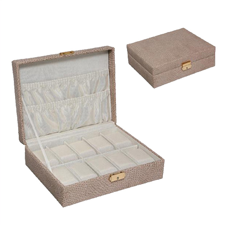 Snakeskin Watch Display Box Europe And America Fleece Liner Watch Box Multi-color Storage Box Jewelry Box Customizable