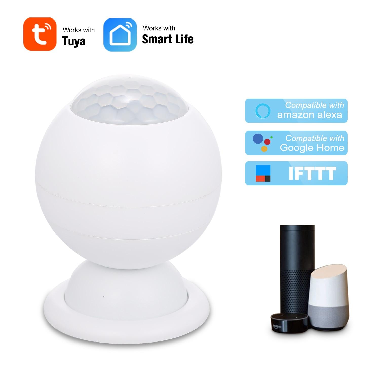 Беспроводной инфракрасный датчик движения Tuya, Wi-Fi сенсор для охранной сигнализации, Управление приложениями для Alexa Google Home, IFTTT