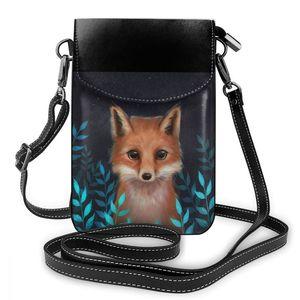 Image 5 - Fox Shoulder Bag Fox Leather Bag Trending Multi Pocket Women Bags Womens Print Mini Student Shopping Purse