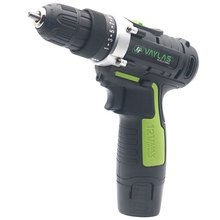 цена на 12V Dual Speed Rechargeable Electric Screwdriver Impact Driver Power Tool Cordless Drill with 1 Lithium Battery