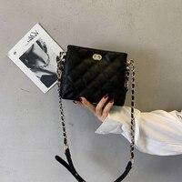 OUMISI Bucket bag lady bag summer fresh new style in 2019 fashion slanting Baitao ins women's bag STF