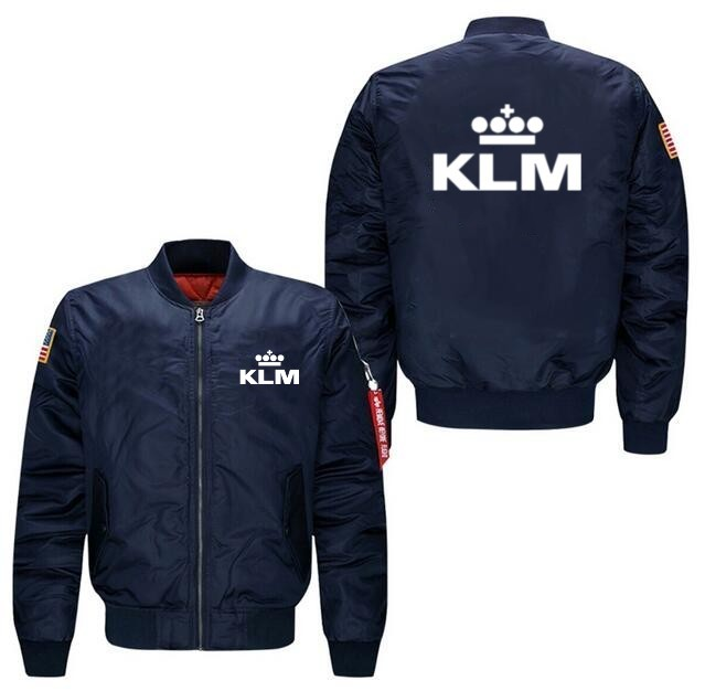 2020 New High Quality KLM Aircraft Plane Design Logo Man Coats Jackets Hot Sale Men Pilot Jacket (Customizable)
