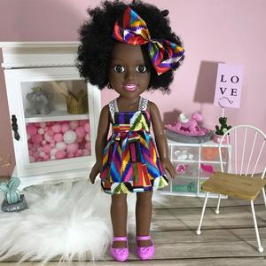 35 см детская подвижная африканская кукла, черная кукла, лучшая игрушка для девочек и мальчиков, подарок на день рождения, Рождественский дет...