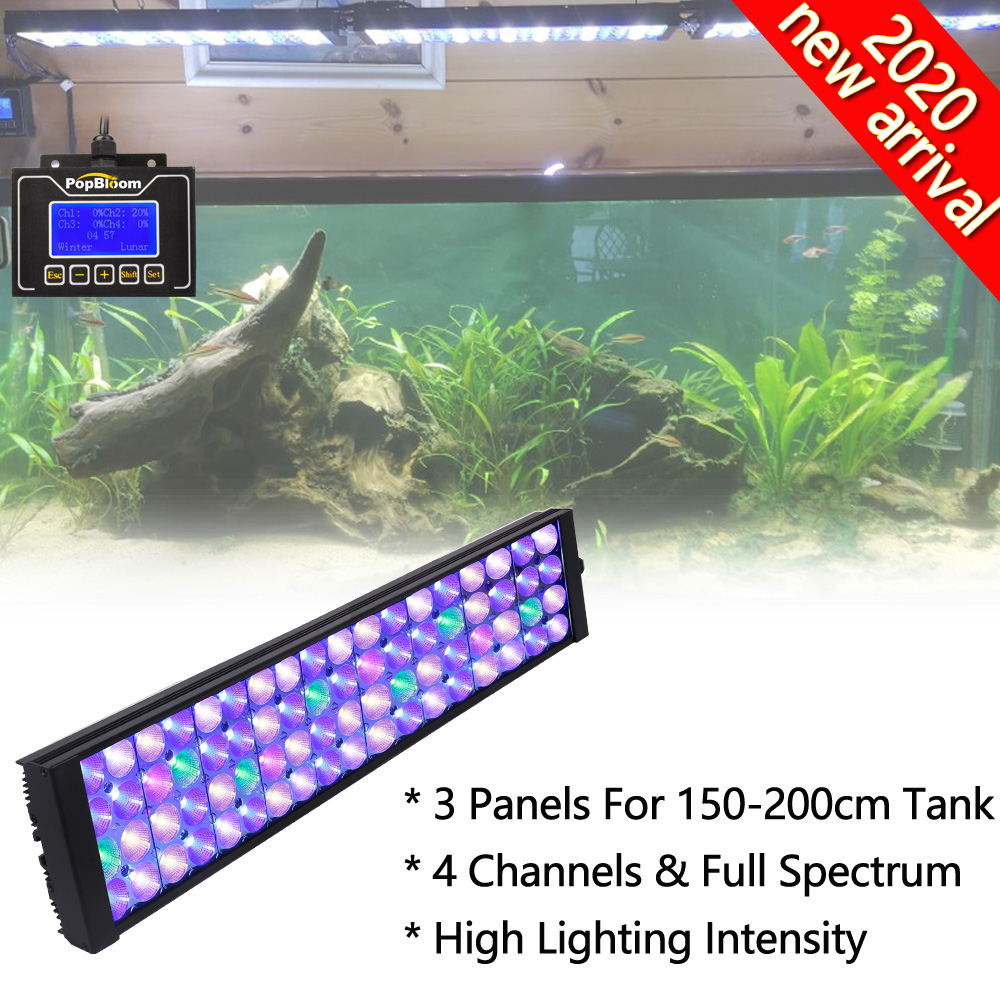 3pcs Popbloom Aquarium Light 180cm Aquarium Lights For Fish Lighting With Led Lamp For Plants Uv Lamp Aquarium Turing50 Lightings Aliexpress