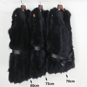 Image 2 - OFTBUY 2020 Winter Jacket Women Black Real Natural Fox Fur Vest Coat New Luxury Female Warm Thick Slim Waistcoat Belt Streetwear