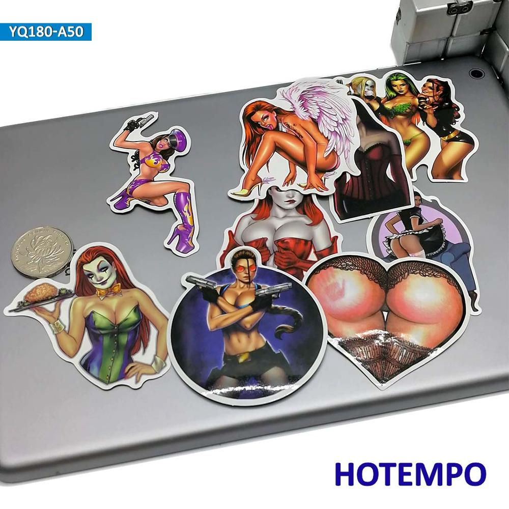 50pcs Angel Sexy Women Anger Devil Lady Beauty Girls Stickers for Mobile Phone Laptop Luggage Guitar Skateboard Bike Stickers in Stickers from Toys Hobbies