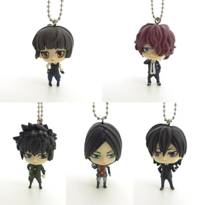 Lovely Cute Cartoon Psycho-Pass Version Keychain Model Japan Psycho Pass Toy For Animation Collection Kid Action Figure