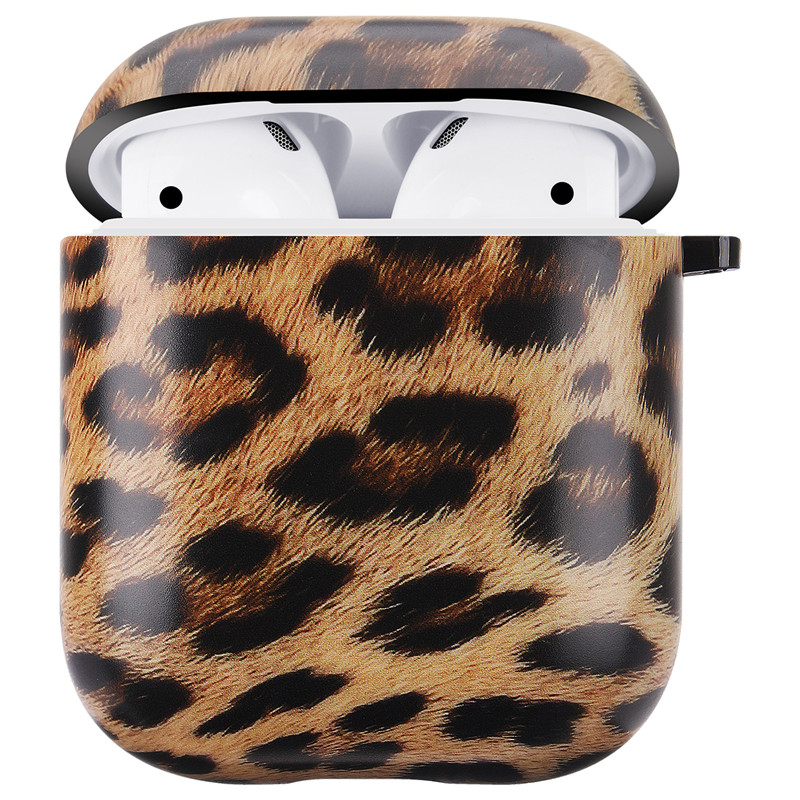 For AirPod 2 Case 3D Fashion Leopard Print Soft TPU Earphone Cases For Apple Airpods Case Cute Cover Funda + Ring