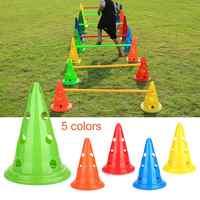 Alta qualidade sinal de treinamento de obstáculo de futebol cônico pressão resistente cones marcador discos balde pvc esportes acessórios 2