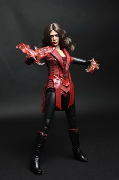цены 1/6 Scale Female Figure Clothes Set  Elizabeth Olsen Scarlet Witch Red Eye Type for 12 inches Action Figure Body